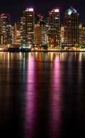 Twin towers of purple