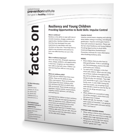 Resiliency and Young Children: Impulse Control