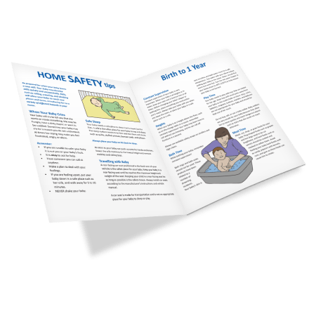 Home Safety Tips: Birth to 1 Year Brochure