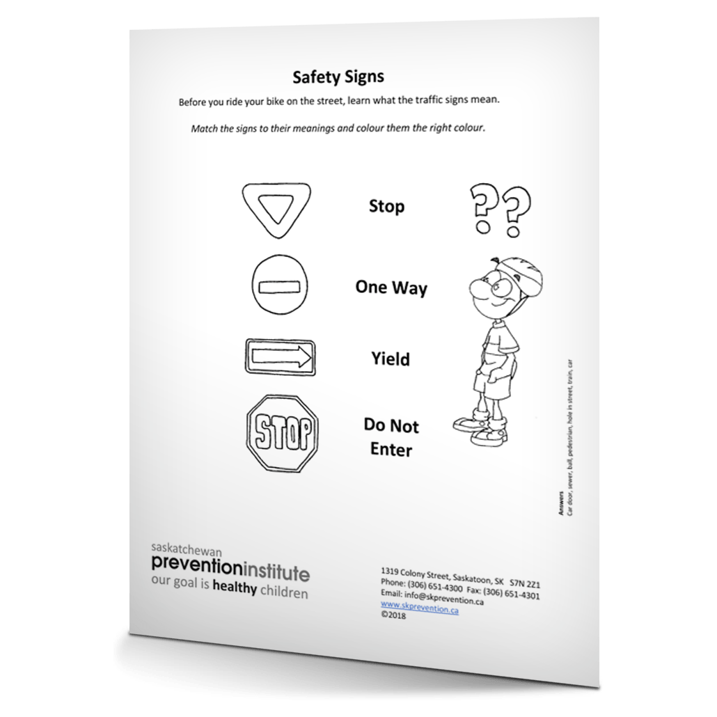 Bicycle Safety 2018 Activity Sheets