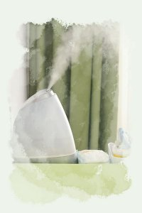Use a cold mist humidifier