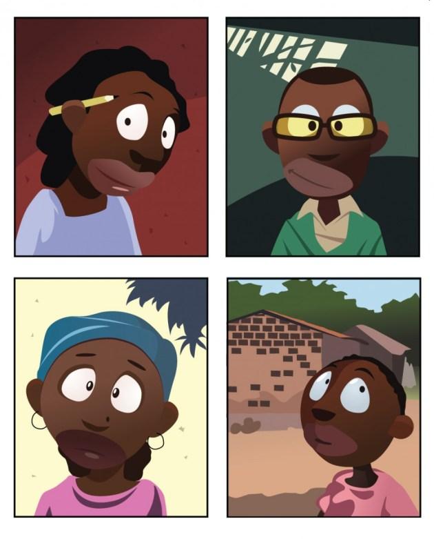 Rode kors afrika illustrationer
