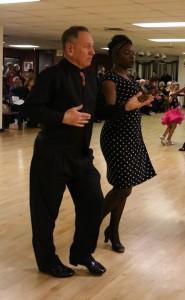Doug Skrainka and student, ballroom dancing