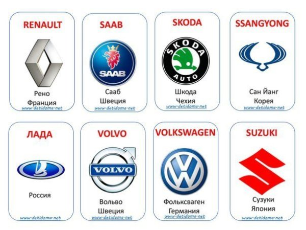 Каталог автомобилей всех марок скачать