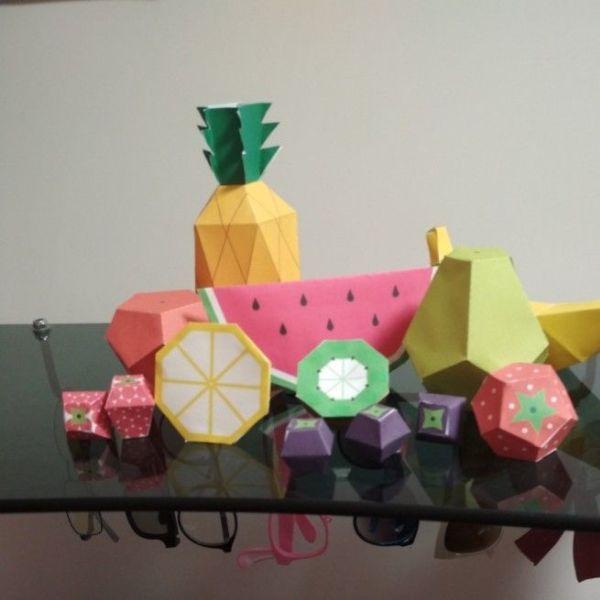 Фрукты и ягоды из бумаги, скачать шаблоны