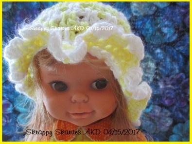 26c Leaping Sunshine Baby Beanie with Ruffle Brim