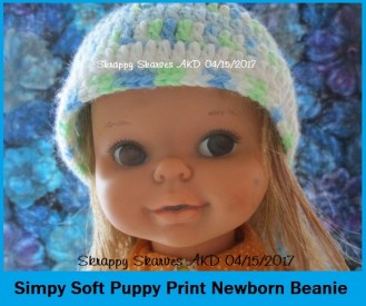 47c Simply soft Puppy print Beanie