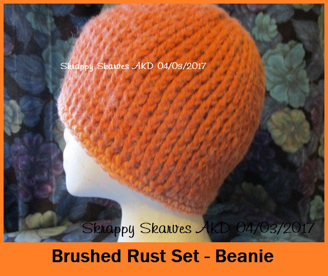 7a Brushed Rust Set Beanie
