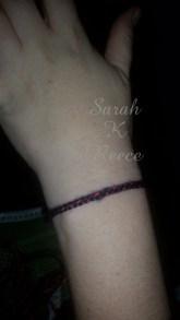 Yarn wrap bracelet
