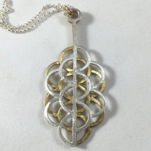 Mixed Metal Sacred Geometry Pendant