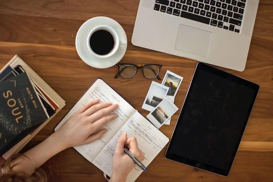 Börja skriva dagbok om ditt skrivande