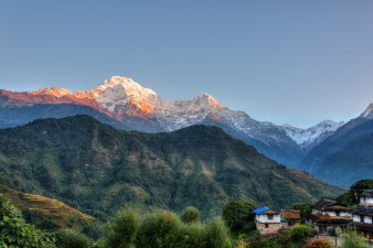 Ghandruk village in the Annapurna region, Nepal, HDR photography