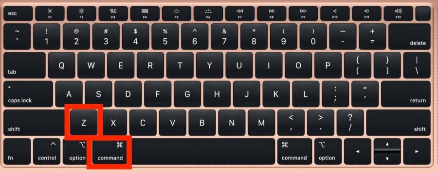 Redo shortcut mac