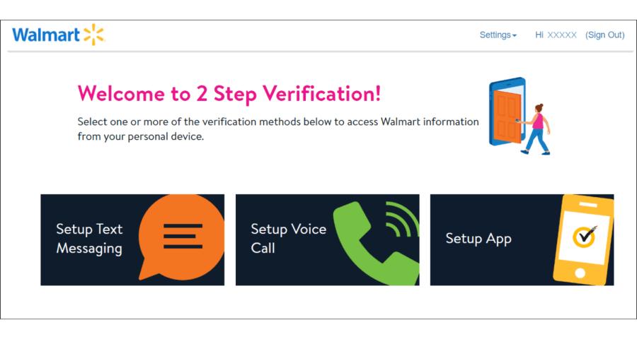 wmlink/2step - WalmartOne 2-Step Verification