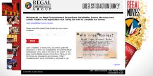 Talktoregal - Win $1000 Gift Card - Regal Entertainment Survey