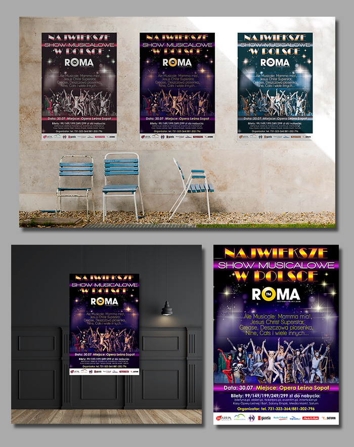 teatr roma projekt plakatu show musicalowe