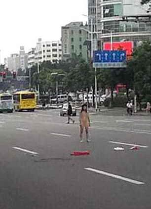 Голая женщина в Китае