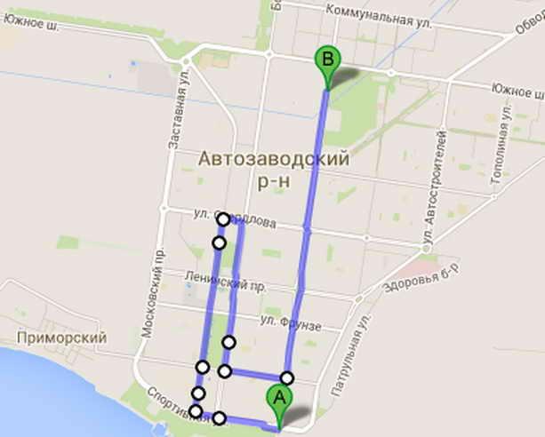 Маршрут Олимпийского огня Тольятти