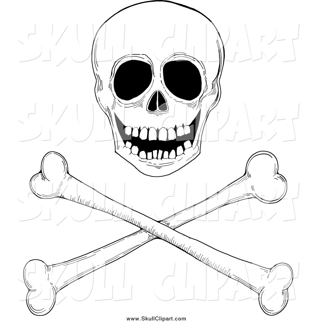 Royalty Free Black And White Stock Skull Designs