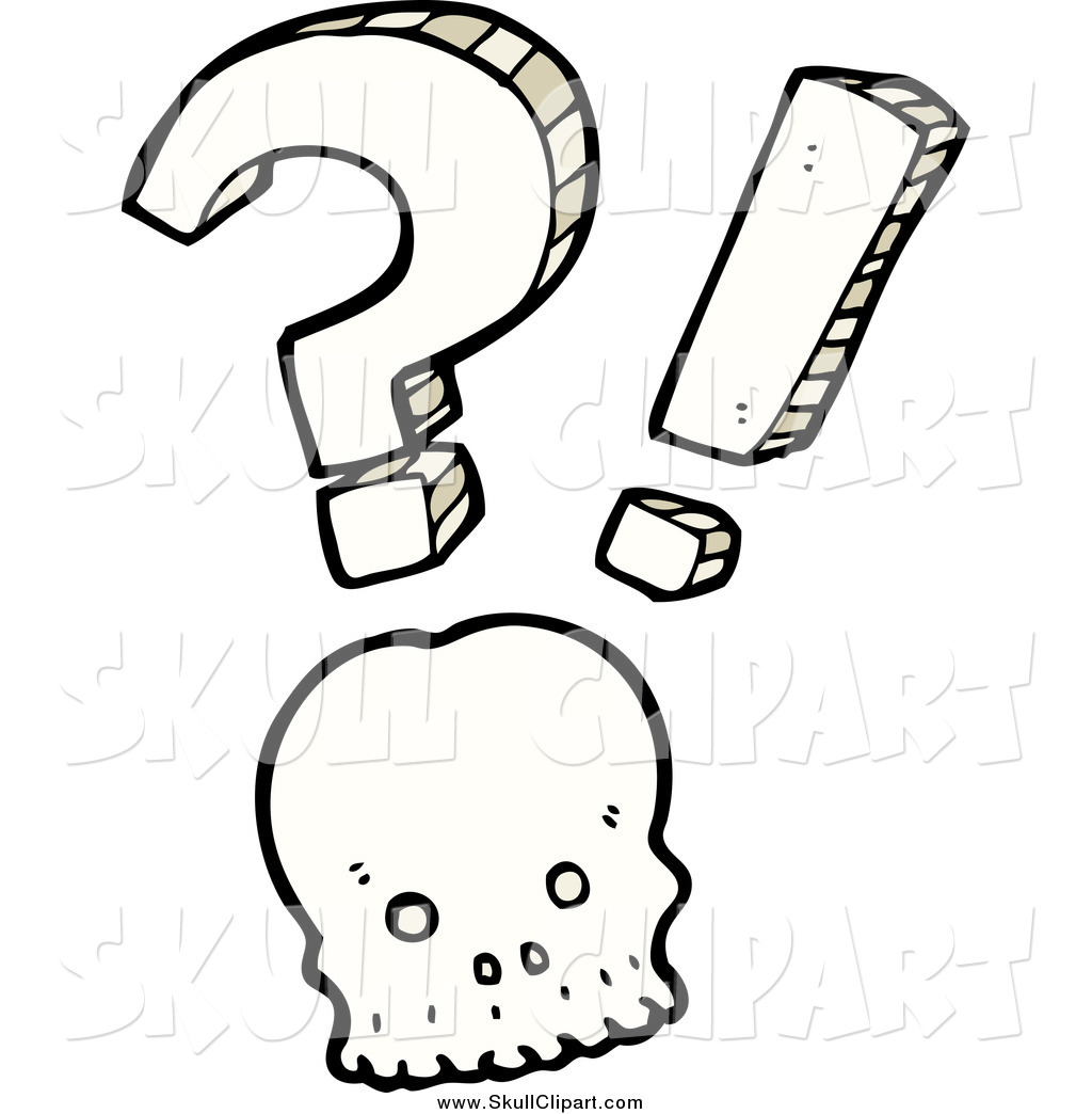 Vector Clip Art Of A Shocked Skull With A Question Mark