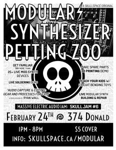 Modular Synthesize Petting Zoo at Skullspace