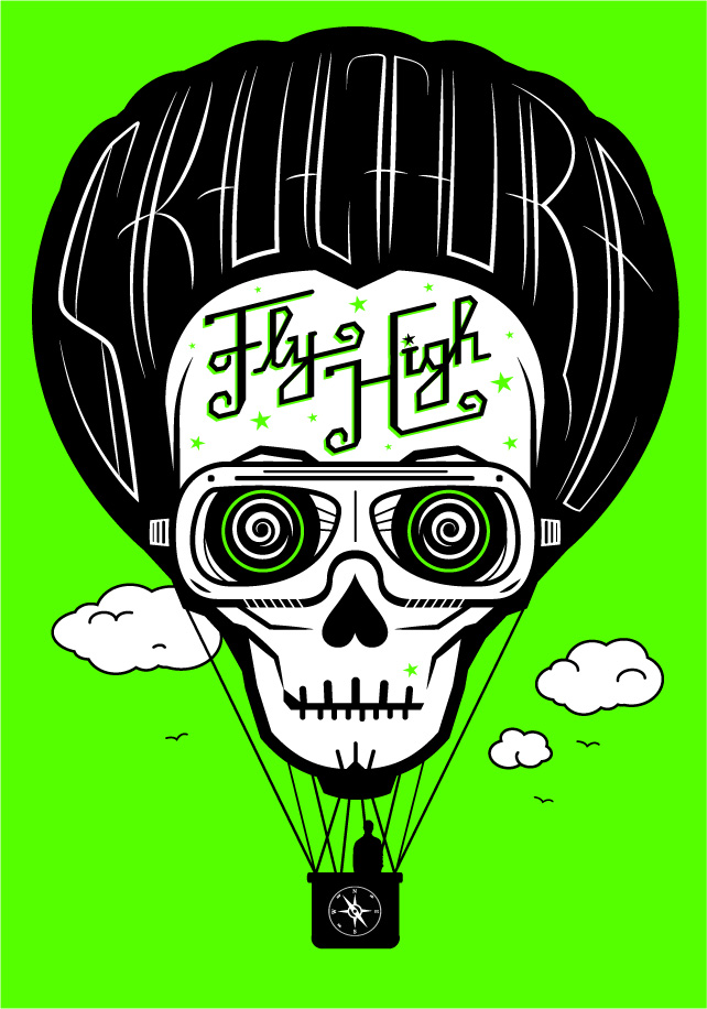 Fly High Poster design from Skulture