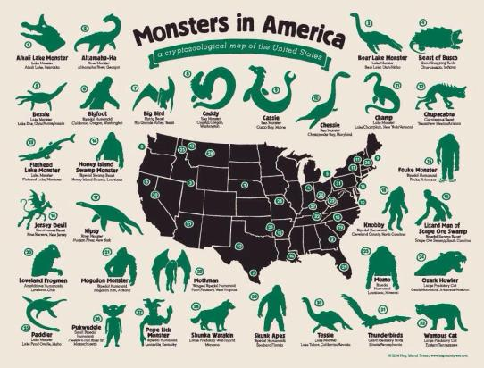 Monsters In America Map