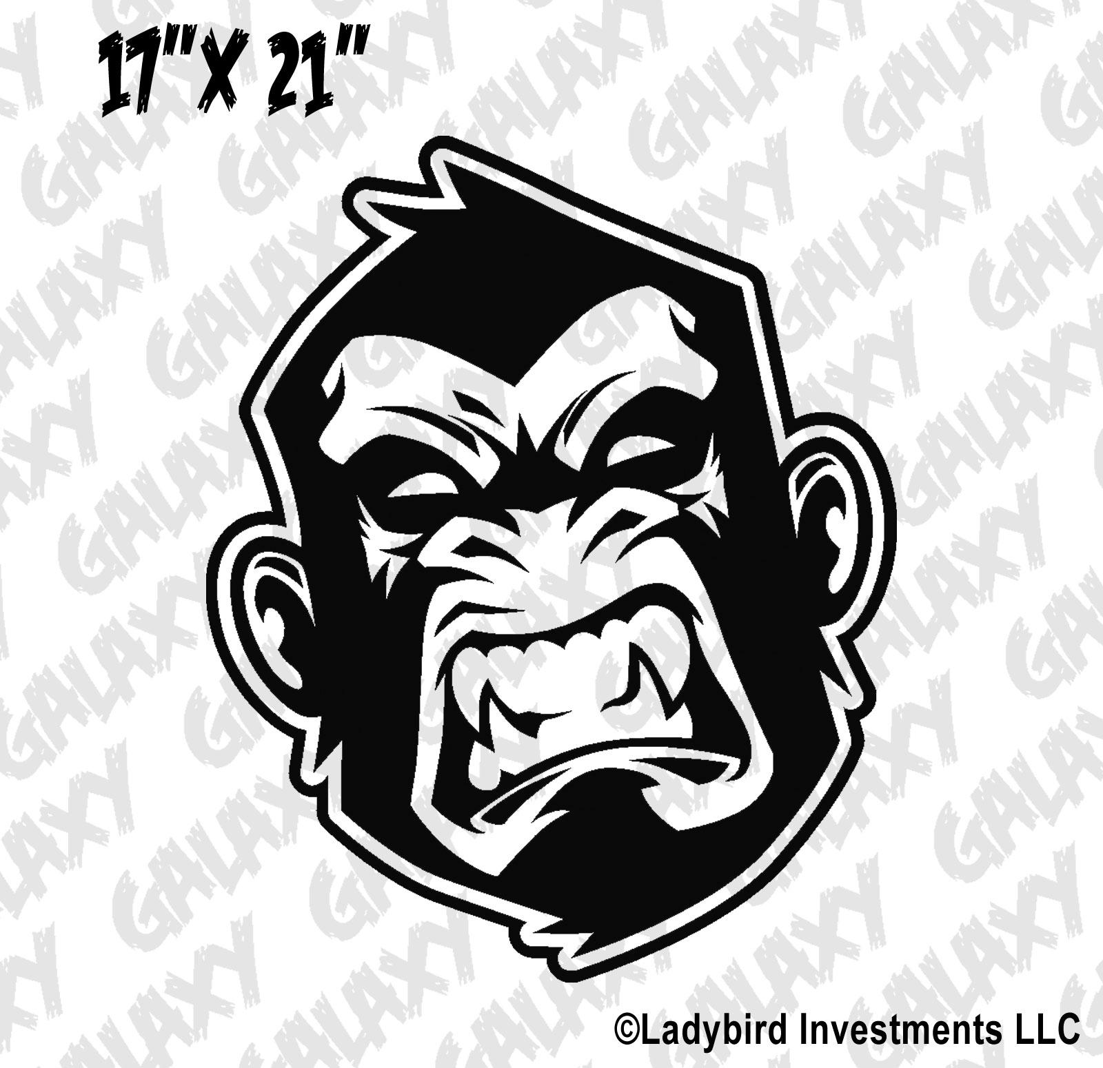 Jeep Wrangler Hood Decal Angry Monkey Sticker Skunkmonkey