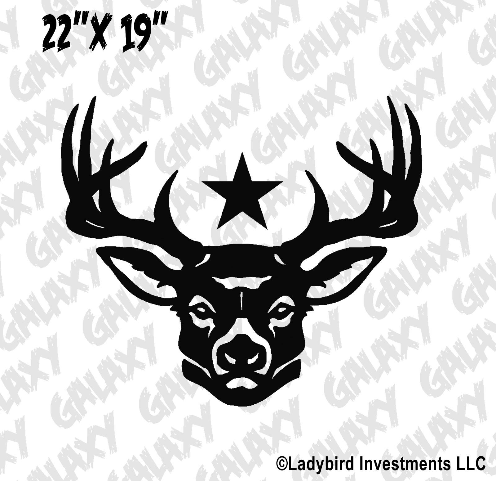 Jeep Wrangler Hood Decal Deer Star Sticker Skunkmonkey