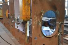 Montaža i zavarivanje polusekcija na portalu u Brodosplitovoj brodoobradnoj radionici