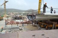 Transport prvog celicnog segmenta mosta Ciovo izgradenog u Brodosplitu (8)
