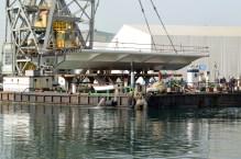 Transport prvog celicnog segmenta za Most Ciovo izgradenog u Brodosplitu (6)