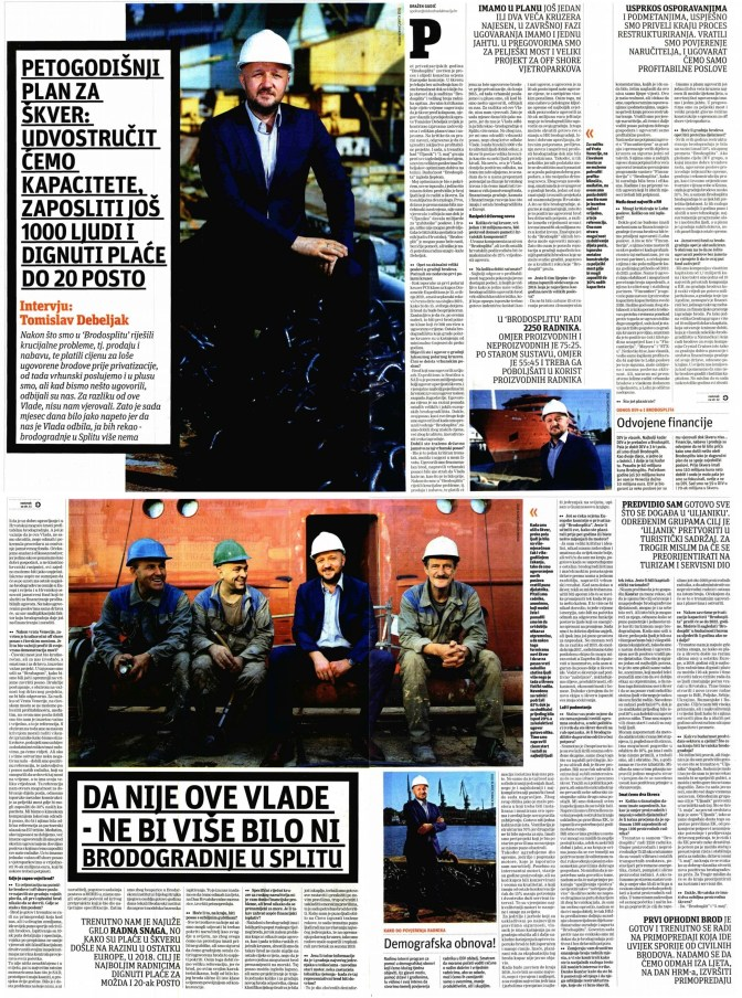 Slobodna Dalmacija, tiskano izdanje 23.6.2018.