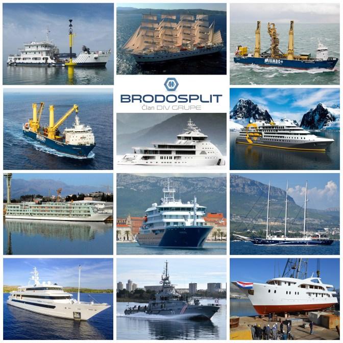 Foto kolaž prikazuje dio brodova koje, uz mnogo uloženog znanja, truda, ljubavi i strasti, tijekom i nakon restrukturiranja stvaraju splitski brodograditelji.