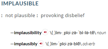 implausible-merriam-webster