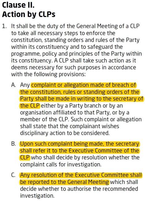 ch 6 clause 2 complaints