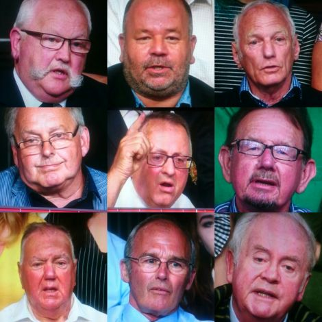 9 old white men
