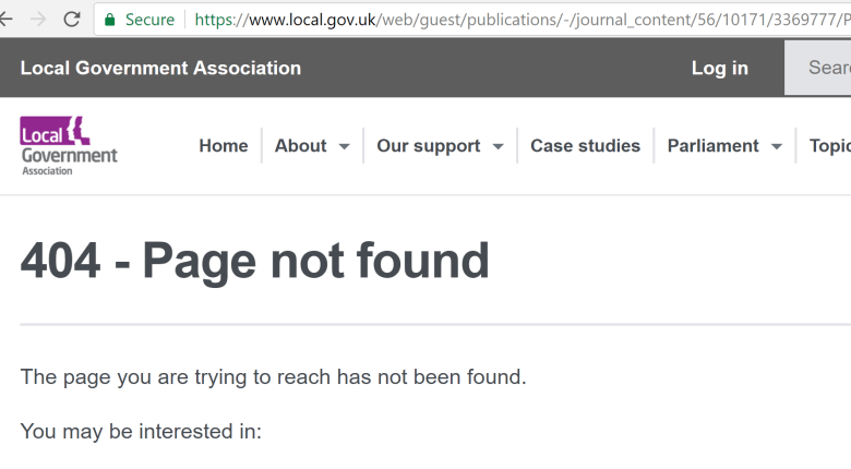 gov guidance 404
