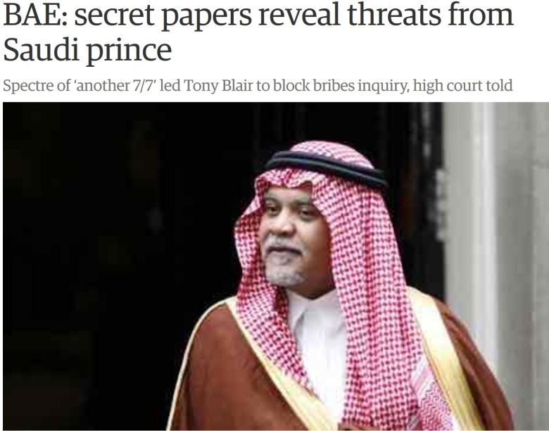 guardian saudi threat