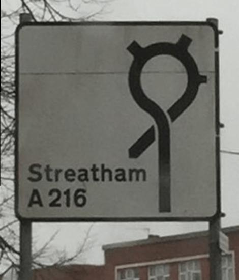 streatham road sign