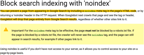 noindex google