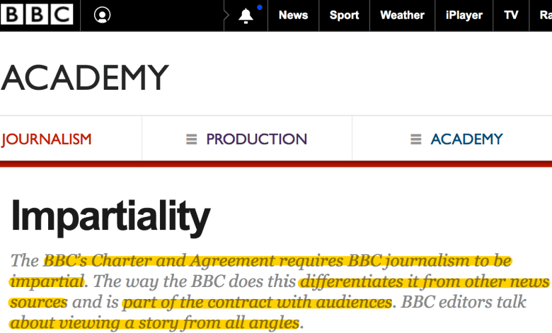bbc charter impartial