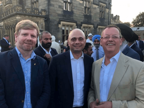 Javid visits poverty-hit North-East – and talks to Bentley