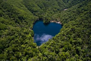 空撮/豊似湖(馬蹄湖)ハート型の湖(幌泉郡えりも町)2015春 #2