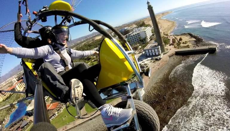 paratrike paragliding maspalomas gran canaria