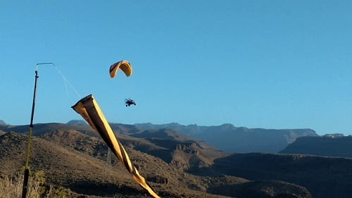 Paragliding Gran Canaria Maspalomas with sky Rebels
