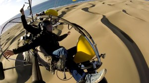 powered paragliding over Maspalomas Dunes