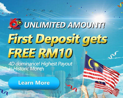 Unlimited Amount! First Deposit gets FREE RM10