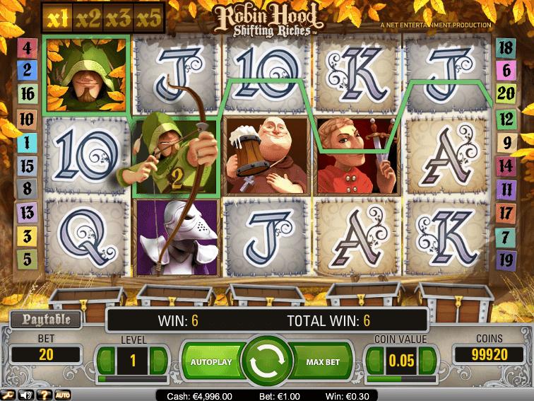 robin hood shifting riches spielen