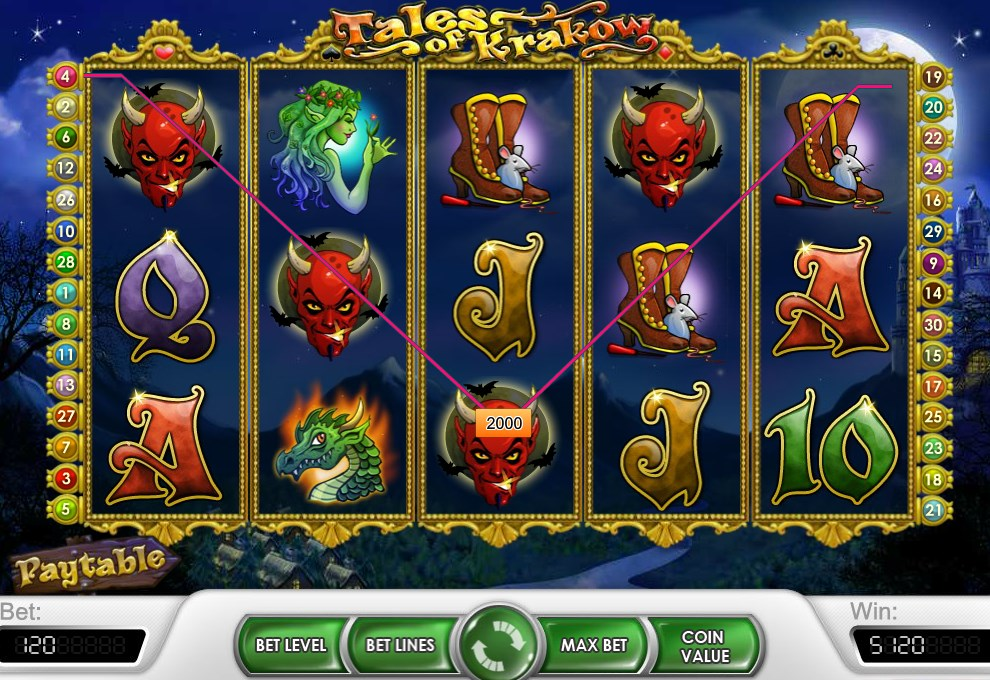 m.sky3888 Tales of Krakow Slot Game With Dragon and Devil Style1